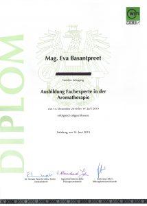 Aromafachexpertin Diplom