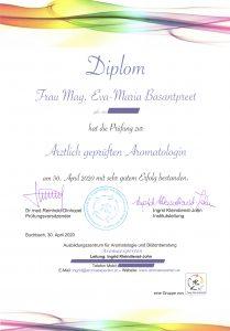 Diplom zur ärztlich geprüften Aromatologin